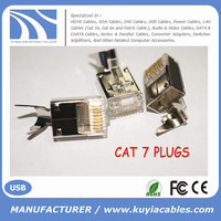 High quality RJ45 shielded Cat7 plug 1.5mm wire hole STP
