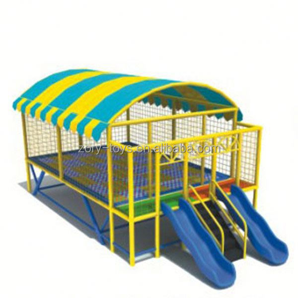 bungy trampoline, ZY-TR026 trampoline with enclosure ladder