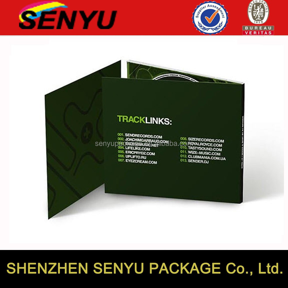 Custom printed logo cd dvd box set packaging