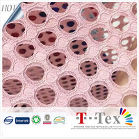 hot sale pink dot hole cheap cord lace for children girls frocks designs dresses peruvian lace fabric