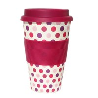 Natural and biodegradable Bamboo Fiber coffee cup with silicon lid