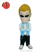 custom plastic anime PSY bobble head action figure with large size