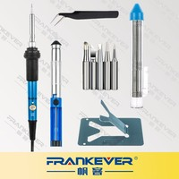 FRANKEVER 60W 110V 5 Tips 6-in-1 soldering iron kit