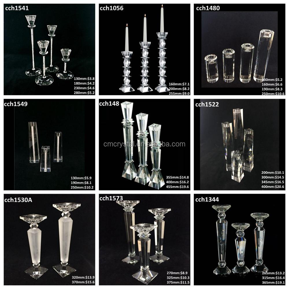 80mm round faceted crystal tealight holder for Christmas table decoration