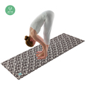 1mm Light weight screen printing foldable travel yoga mat softtextile natural thin rubber yoga mats