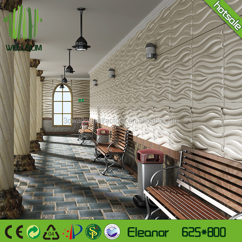 Hot selling modern style wallpaper 3d wall mural panels,100% natural bamboo fiber material no chemical paintable wall board