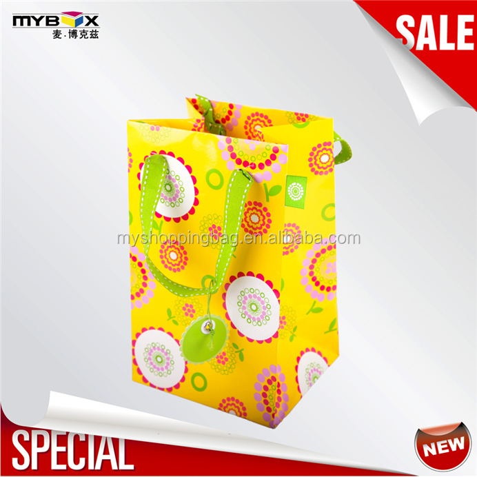2016 custom printed logo tote best price high quality retail art paper bag 091904