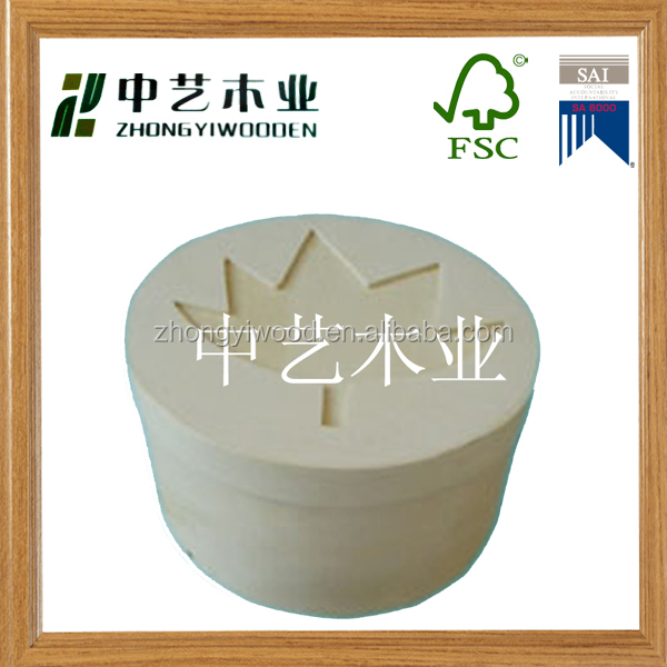 high quality low prie natural handmade unfinished round eco-friendly wood cheese box