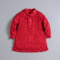 Mom and bab baby body suit children high quality clothing girls lace shirt red China factory wholesale price