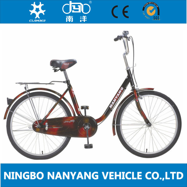 2015 hot sale 20 inch steel frame lady city bike bicycle with lugs