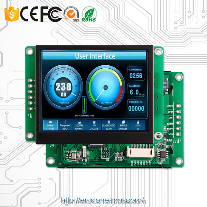 4 wire resistive touch screen tft lcd color monitor with and brand name cpu