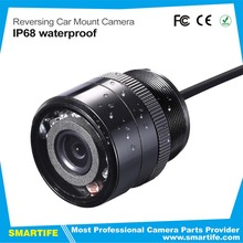 28mm wide angle universal punching HD night vision infrared led CCD IP68 waterproof back vision reversing car mount camera