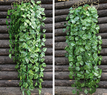 Artificial hanging leaves table grape vines for wedding decoration