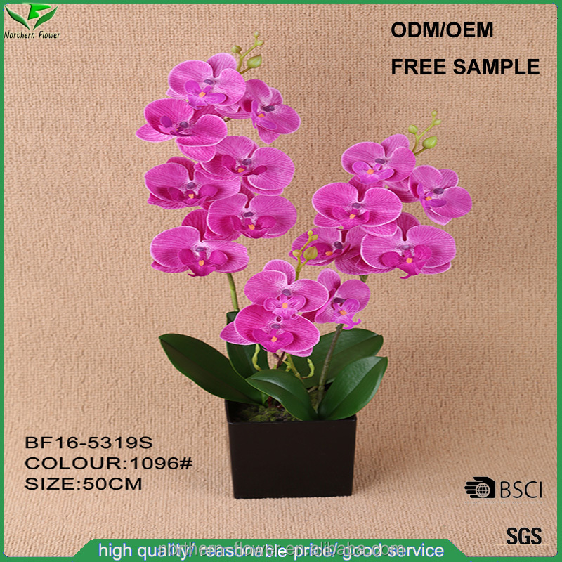 High quality wedding decoration artificial flowers, cheap wholesale orchid fake flowers
