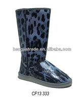 Ladies leopard style long knee boot