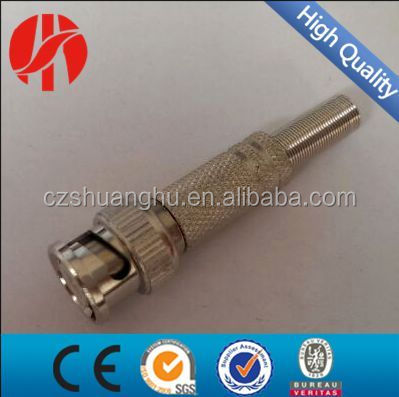 BNC Male Plug Bend Connector Adapter to Coaxial Cable