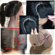 2016 New Design Natural Looking High Ponytail 100 Human Hair Brazilian Silk Top Full Lace Wig Silk Base Full Lace Wigs