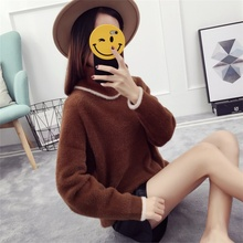 Imitation Mink Velvet Loose Autumn Winter Pullover Woolen Sweater New Designs For Ladies