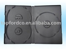 14mm Black DVD box for 3 discs