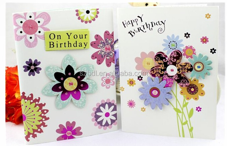 Handmade custom design happy childrens day greeting card music greeting card