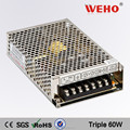 60w triple output adapte T-60C 5v 15v -15V power supply