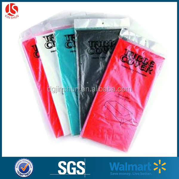 Event & Party Supplies Type Custom Plastic Disposable Banquet Use Waterproof Solid Color Plastic Table Cloth