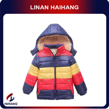 Boys rainbow stripes plus thick custome korean children baby clothing