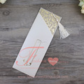 2016 Newest Ideal Shape Hot Stamping Wedding Invitation Pocket Pearl Paper