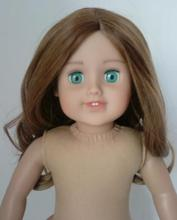 BROWN CURLY doll wig bjd/doll wig materials/american girl doll wig