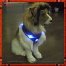 Flashing dog mesh harness with battery box keep safe for Small, Medium and Large dog
