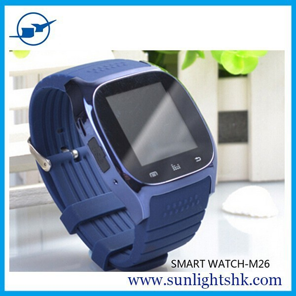 In Stock Luxury R-Watch Bluetooth M26 Smart Watch with BT Dial / Call Answer / Android Smart Phone