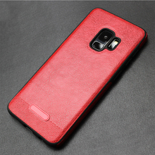 High Quality Soft Leather Cell Phone Back Cover Case For Samsung Galaxy S9