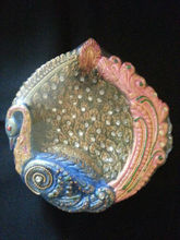 designer fancy clay Diya
