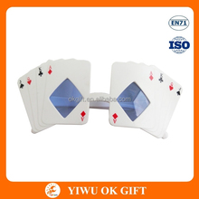 Funny poker shape party glasses for promotions