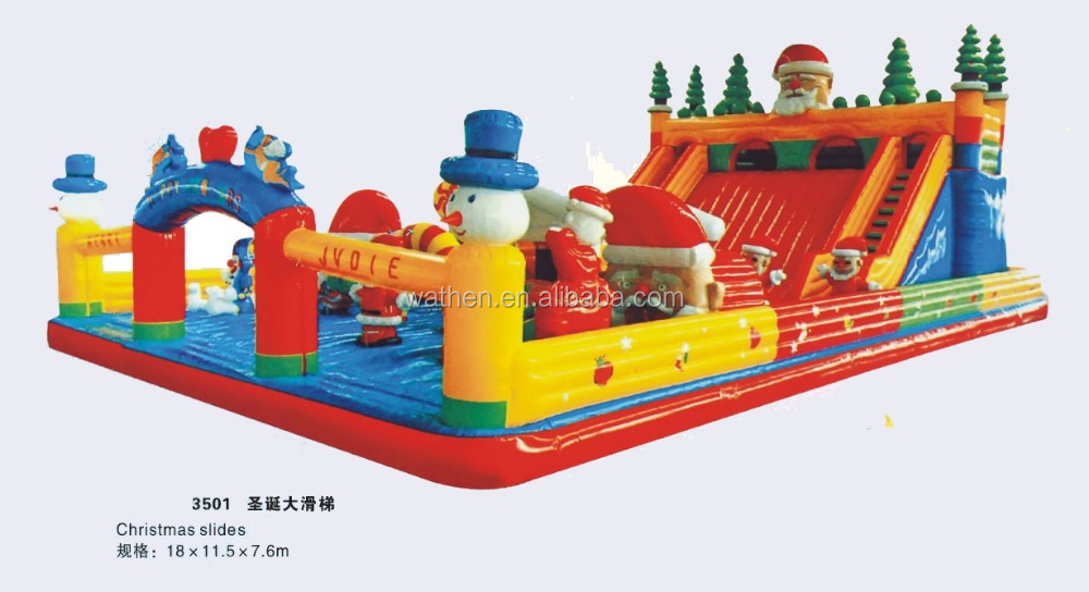 Inflatable Christmas Slide - giant/large customized inflatable playground christmas slide series for promotion for advertising
