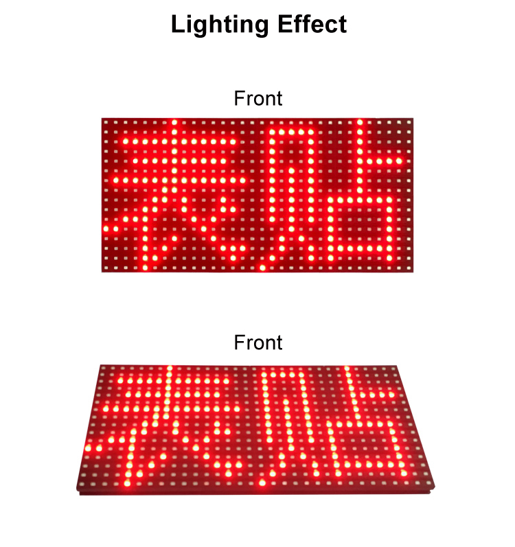 Wholesale <strong>P10</strong> Outdoor Single Red <strong>Color</strong> Monochrome Screen LED Outdoor Display Advertising