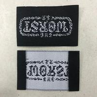 Better finished custom center fold stain jeans clothing garment woven label for clothing