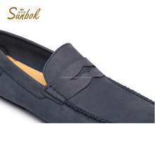 casual mosha leather high quality slip on shoes for man
