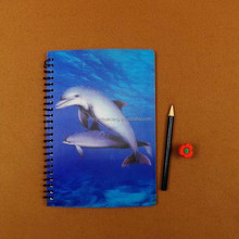 Wholesale A4 A5 A6 wiro notebook spiral student 3d notebook /excercise book/gift diary for school