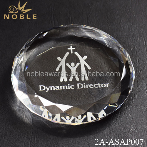 Noble Customized Personlized Clear Blank Crystal Diamond Paperweight