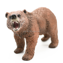 Custom made wild bear plastic action figure toy,pvc injection molding lifelike bear toy