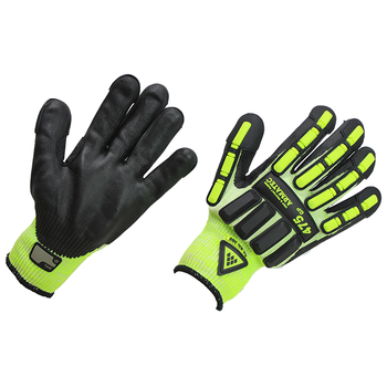 HPPE shock proof safety protective mechanical working gloves