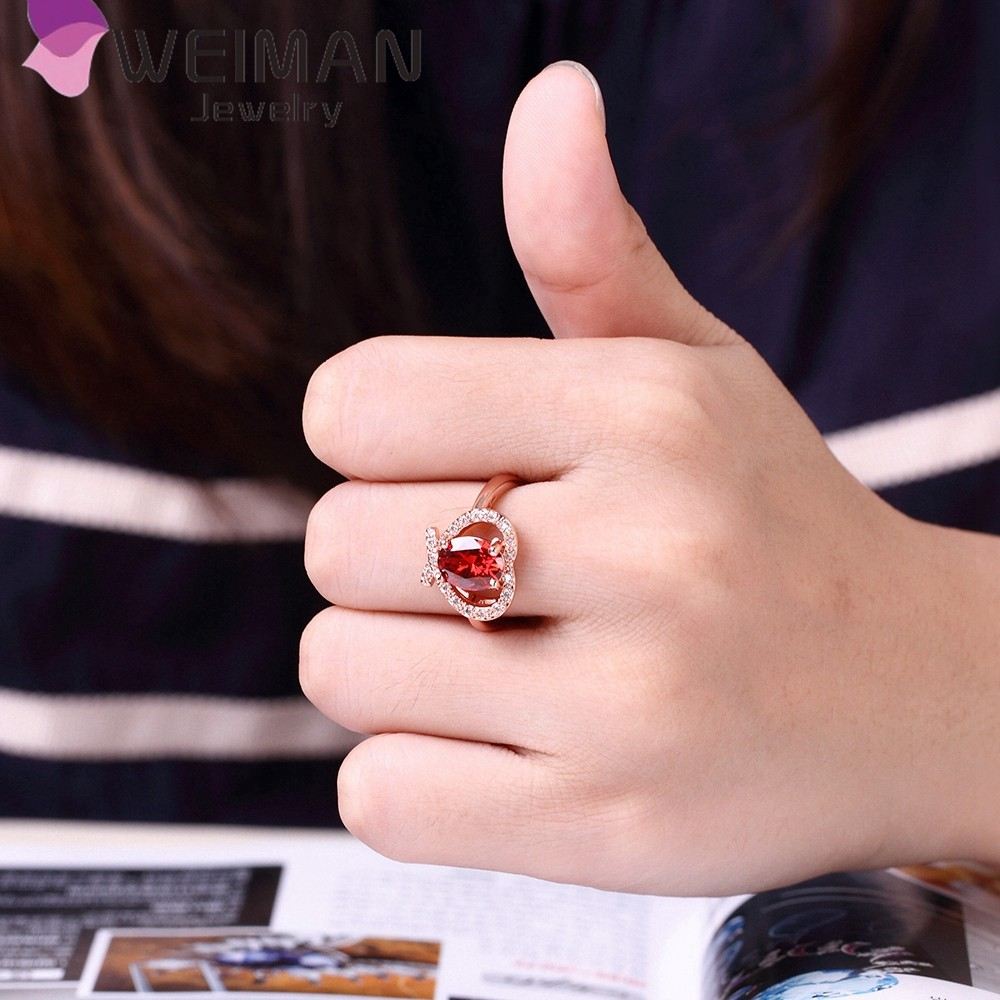 Latest Wedding Jewelry Ring With Cz Stones Heart Shape Ring Gold ...