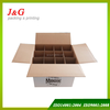 Corrugated carton box manufacturer, wine carton box with partitions