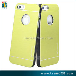hot selling hybrid metal brushed hard cover case for iphone 5
