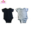 0-2 Years age blank infant OEM rompers short sleeve plain Rompers Product Type baby onesie