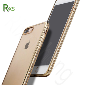 Hot Selling Products Hight Quality Mobile Phone Accessories Jet Black Ultra Thin Electroplating TPU Case for iPhone 8