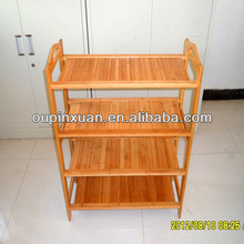 2014 new simple design bamboo storage shelf