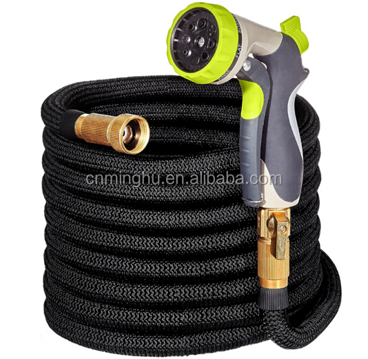 Heavy duty expandable 50ft expanding garden water hose with copper fittings