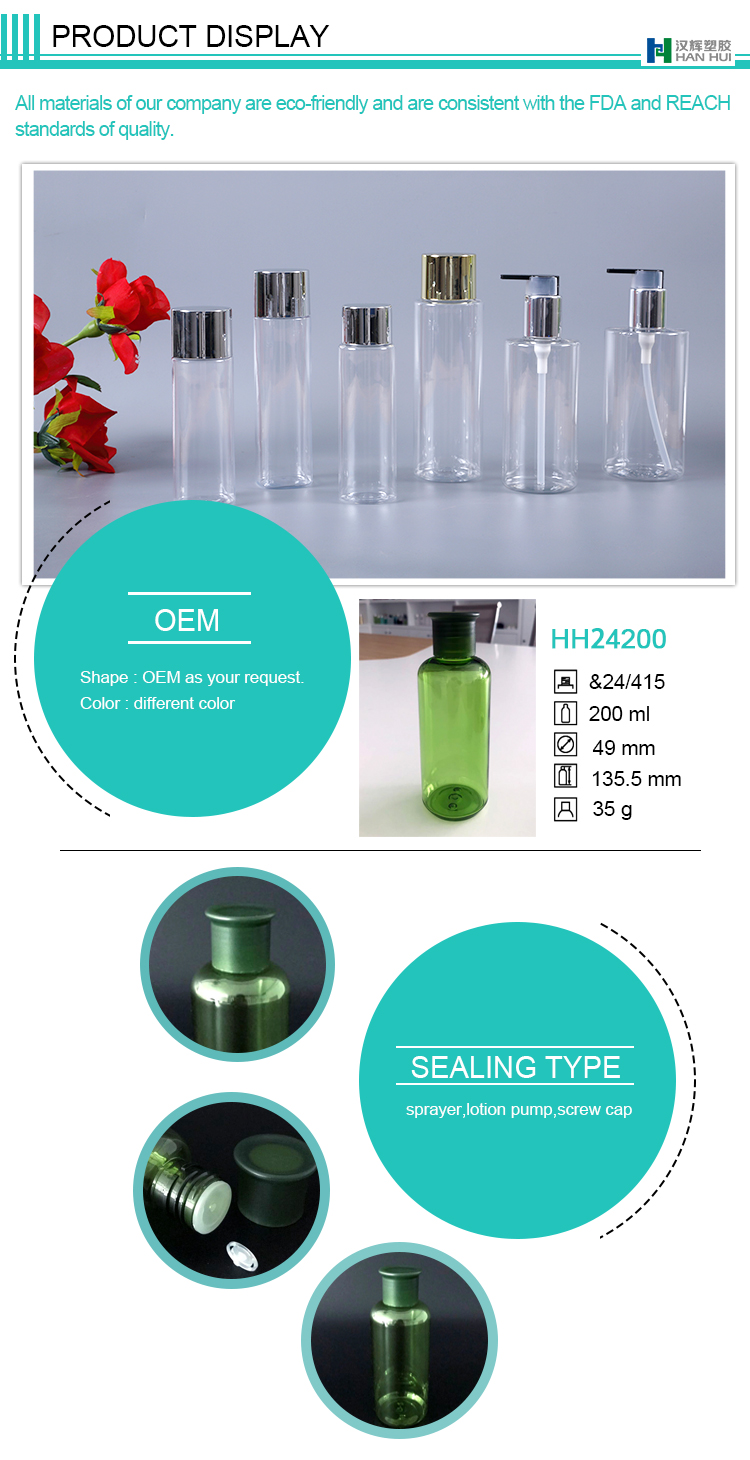 CHINA FACTORY CROWN CAP GREEN COLOR BOTTLE FOR TONER